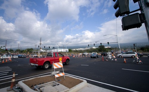 Palani Rd and Queen Kaahumanu Hwy intersection