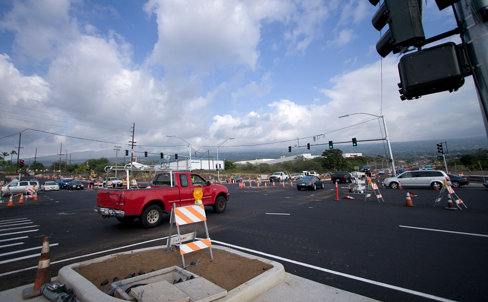 Motorists should avoid the intersection of Palani Road and Queen Kaahumanu Highway Monday and Tuesday night as it will be closed for paving from 7p.m. to 5a.m. Motorists are advised to find alternate routes.