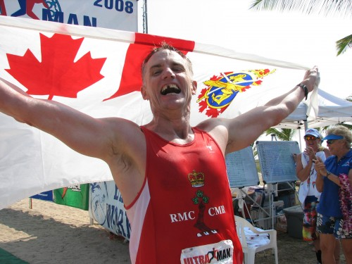 Canadian Lt.. Col. Tony O'Keefe was pleased with a second place finish Sunday, Nov. 30, 2008 in the Ultraman.