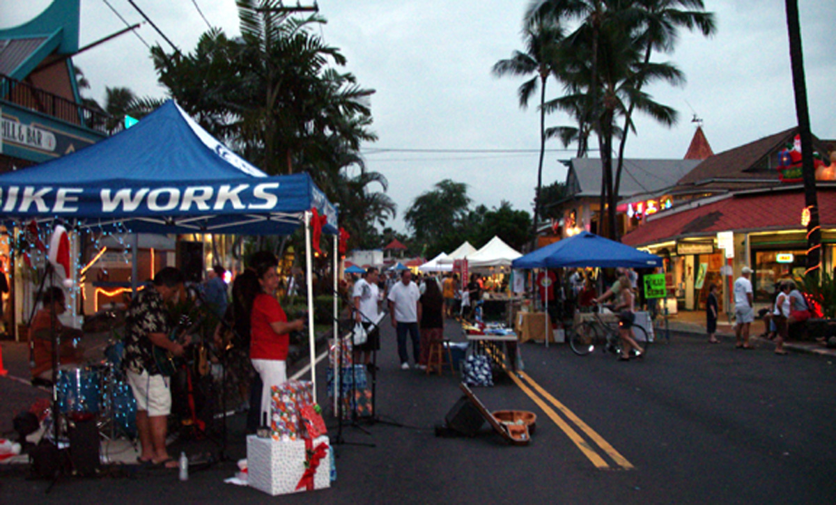 Kokua Kailua Village Stroll, palace concert (March 20)