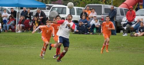 Keaau boys beat Christian Liberty 2-1 in BIIF soccer action.