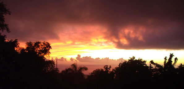 Stormy day, excellent sunset