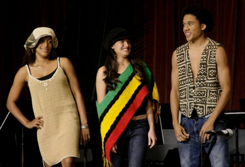 "Students take to the stage for a fashion show during the Variety Show at Keaau High School. The event was to celebrate how we ""Be The Change,"" amongst us all. In honor of Martin Luther King Jr, African-American History and Presidents Day with food and entertainment."