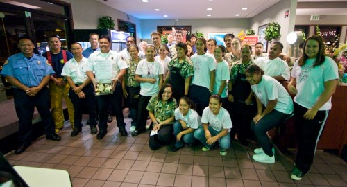 Volunteers for Project Compassion at Denny's.