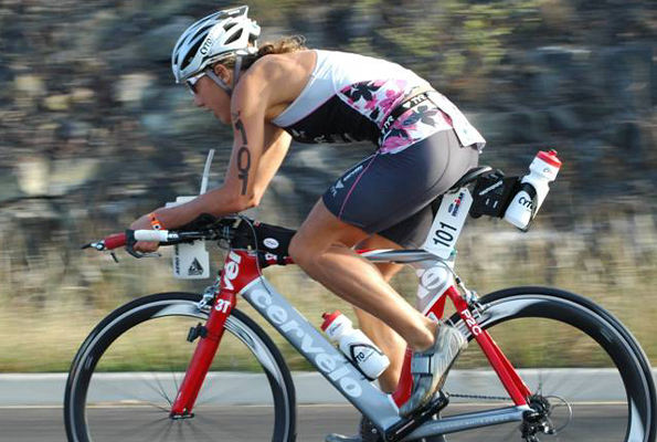 Ironman champ donates wheels for auction to benefit Peoples Advocacy for Trails Hawaii, following her philosophy of making a difference