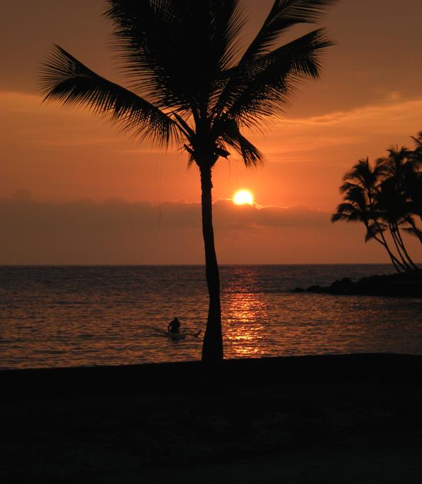 Wish you were here? Keauhou Bay sunset