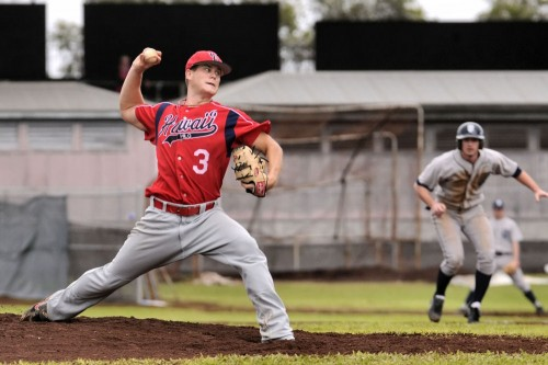 Hilo starting pitcher Jesse Moon went four innings and did not factor in the decision.