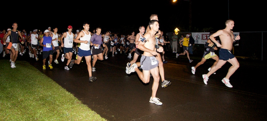 12th Annual Big Island International Marathon 6 a.m. start in Pepeekeo. The first male finisher was Jason Florimonte and the first female Carmen Pavelich in the 26.2 mile race.