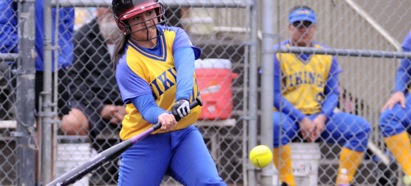 Despite rain delays the Vikings corralled the Cowgirls in BIIF softball action.