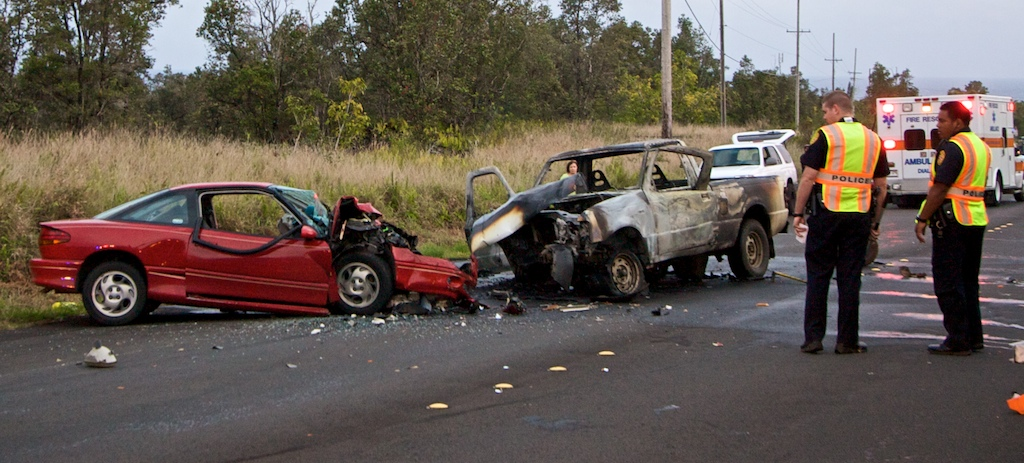 Accident closes highway 130 and sends four people to the hospital