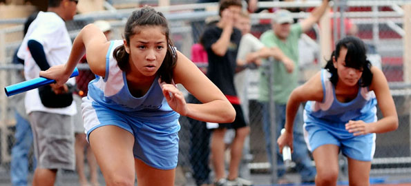 Photos and results from track and field events at Keaau High School Saturday.