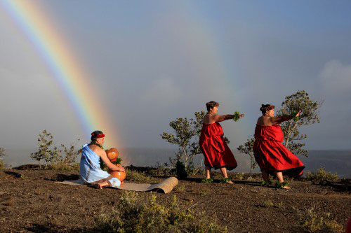The park provides Native Hawaiians a sanctuary for reclaiming ancient feelings of place. The heartfelt expression of chant and dance on the volcano helps reconcile Hawai`i's past with her future and reminds us that the culture of Hawai`i is very much alive. Photography by David Boyle.
