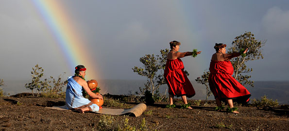 The park provides Native Hawaiians a sanctuary for reclaiming ancient feelings of place. The heartfelt expression of chant and dance on the volcano helps reconcile Hawaii's past with the future and reminds us the culture of Hawaii is very much alive. Photography by David Boyle