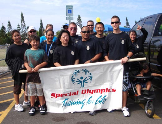 Troy Barboza Torch Run for Special Olympics