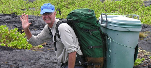 David and Zane Hoover volunteer to preserve Hawaii Volcanoes National Park's Puna Coast Trail