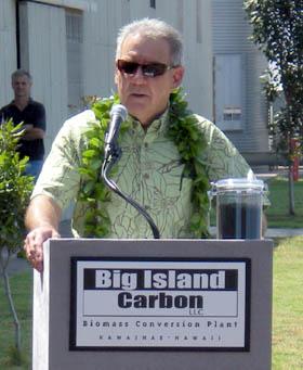 Big Island Carbon CEO Rick Vidgen