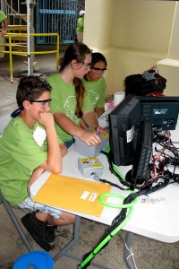 Kealakehe ROV operating crew concentrating on the monitors during the mission