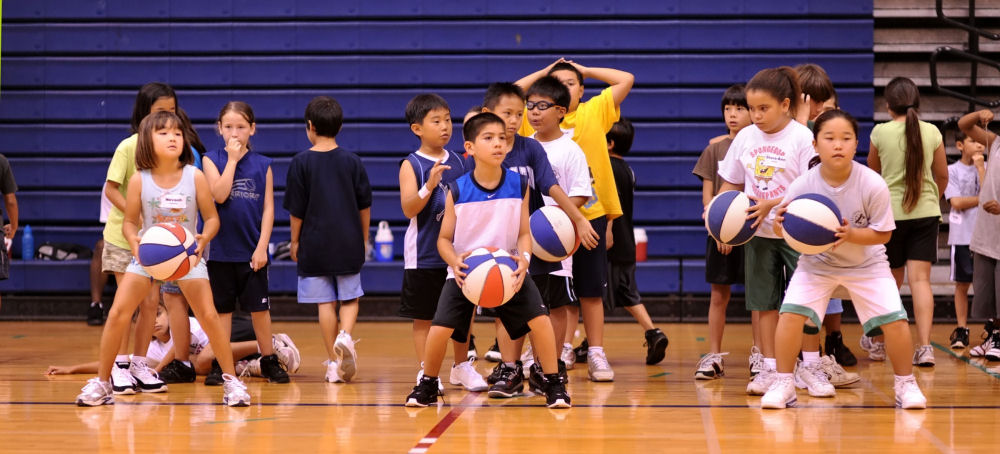 A solid turnout of kids filled the basketball camp at UH-Hilo gym.