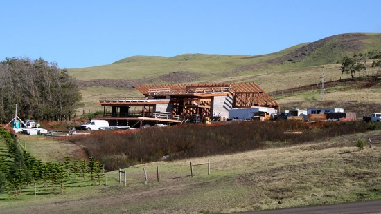 Construction is progressing on the Energy Lab at Hawaii Preparatory Academy.  The 6,112-square-foot building is scheduled to open in January 2010.