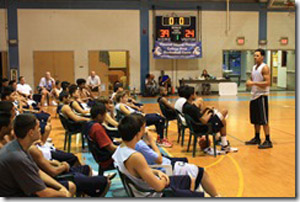 The camp also included instruction on how to be a successful college athlete. (Photo courtesy of Hawaii Island Hoops)