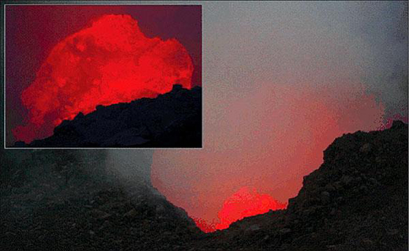 HVO's five Webcams now easier to access through central site. Menu includes summit caldera, vent, rift zone, crater.