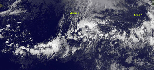 GOES-11 satellites eyeing two Eastern Pacific areas for tropical development