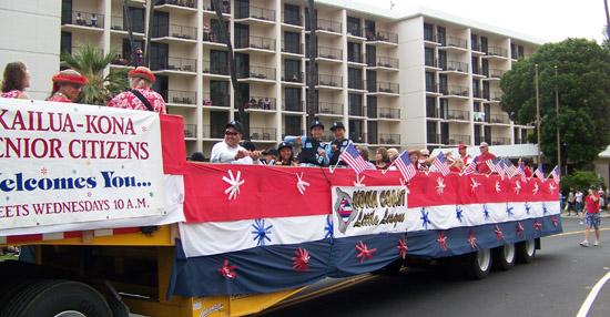Kona Little League players enjoyed their big rig ride.