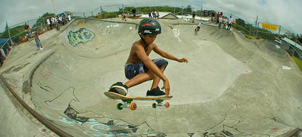 A blessing and 'King of Vert' skateboard contest filled the Pahoa Skatepark.