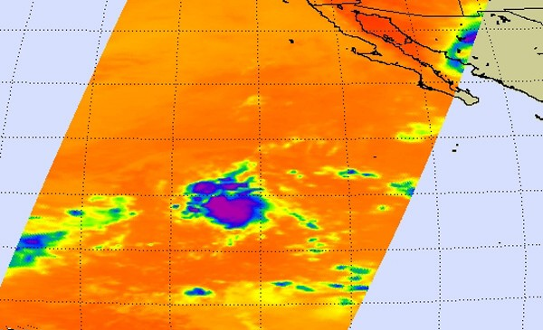 NASA infrared image sees the new 9th East Pacific tropical depression