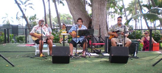Entertainment was provided by Kona's Kehaulani Trio.