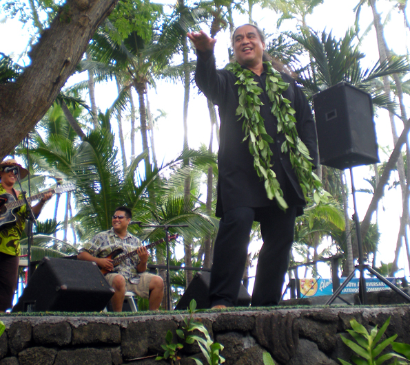 A performance by kumu Keala Ching wrapped up the Mango Experience in the Keauhou Beach Resort's Royal Garden.
