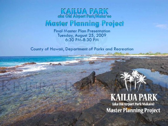 Click on above image for Kailua Park Final Master Plan PowerPoint presentation in PDF document format.