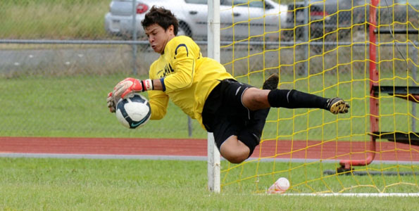 The University of Hawaii at Hilo beat Brigham Young University-Hawaii 2-0 in a Pacific West Conference match on Keaau High School field in Keaau, Hawaii. The Vulcans improve to 3-5 overall and 2-0 in the PWC while the Seasiders fall to 2-4 and 1-2.