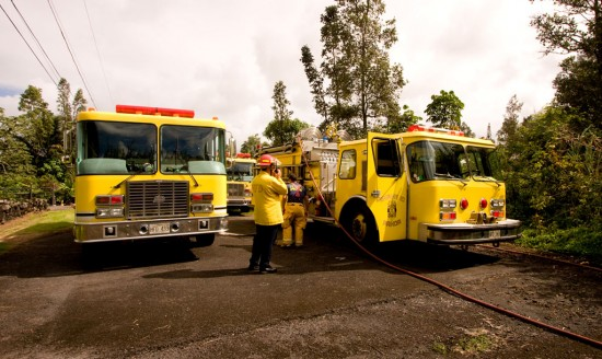 Fire/rescue crews on Lalakea Street extinguished a brushfire in a grassy open area.