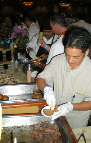 Baby beef sandwiches from Mauna Kea Beach Hotel and Chef George Gomes Jr. (They were awesome!)