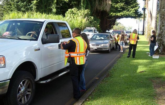 """Big Isle police are informing motorists that police will be conducting DUI checkpoints throughout the Big Island in anticipation of the upcoming Labor Day holiday. The effort is part of a national and statewide campaign called """"Drunk Driving: Over the Limit. Under Arrest."""" Sergeant Kelly Ka'aumoana-Matsumoto, head of the Traffic Services Section, said police are reminding motorist of the consequences of impaired driving."""