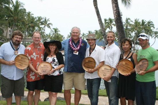 Executive Director Leo Sears with winners of the 2009 Golden Honu Awards.
