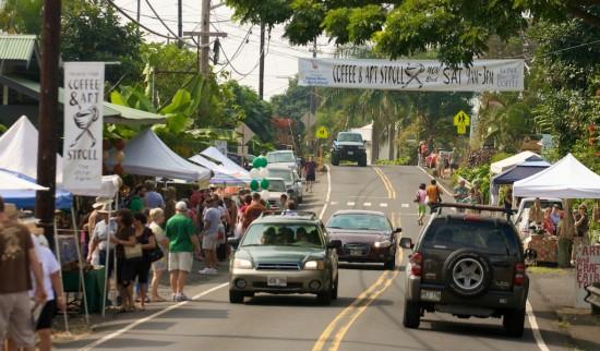 The Coffee & Art Stroll in Holualoa town. Photography by Baron Sekiya for Hawaii 24/7.