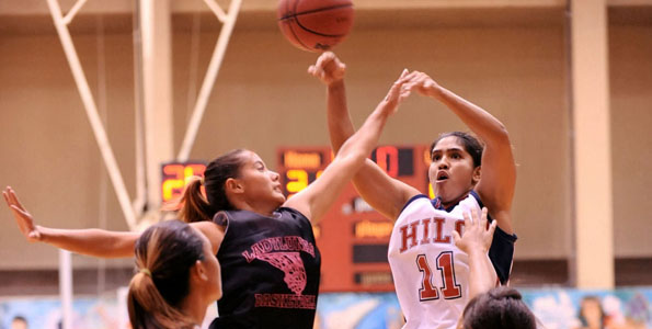 The UH-Hilo women's basketball team took their exhibition game against the Vulcan alumni at the campus gym. The Vulcan team won the game 80-59 Friday night (Nov 6).