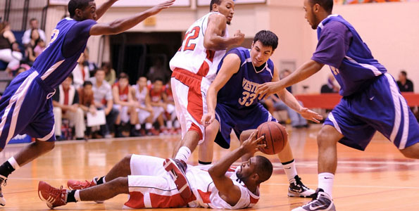 The University of Hawaii at Hilo beat Western New Mexico University 91-82 in an NCAA Division II contest in the UHH gymnasium.