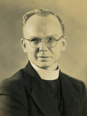 Father Benno Evers is credited with rebuilding Immaculate Conception Church within eight months after it was destroyed by fire in 1943. (Photo courtesy of North Kona Catholic Community)