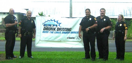 Hawai'i Police Department officers conduct DUI checkpoints this holiday weekend.