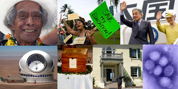 Here's our list of who and what we think had the biggest impact on the Big Island in the last 12 months. Narrowing it down to just 10 was tough. The readers get to decide the order of the top 10 by voting.