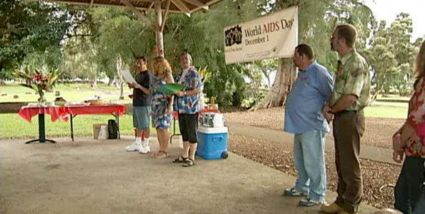 The Hawai'i Island HIV/AIDS Foundation (HIHAF) hosted a Memorial Service at 5 p.m. Wednesday (Dec 2) in Hilo, at Liliuokalani Park, Sumo Ring.