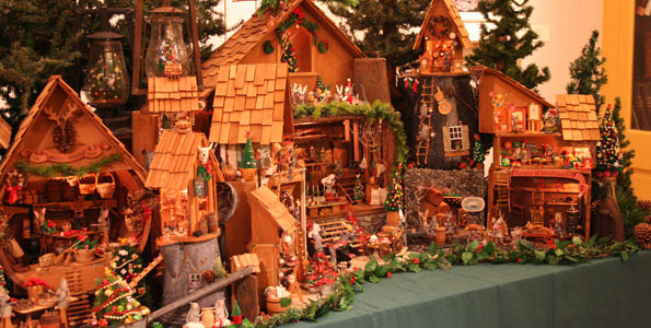 A miniature Christmas Village created by beloved island painter and Kona resident Martha Greenwell is on display at the Isaacs Art Center at Hawaii Preparatory Academy through January 5, 2010.