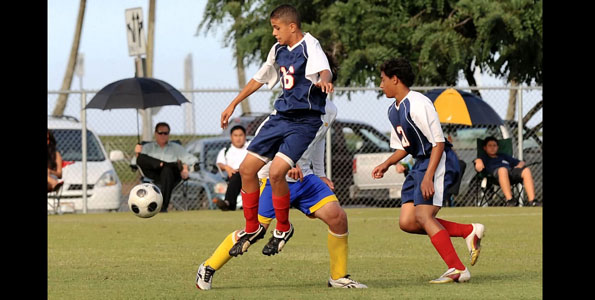The Hilo Vikings defeated both the Keaau Cougars boys and girls teams in soccer at Hilo Bayfront soccer fields Wednesday (Dec 16).