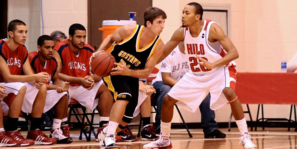 The University of Hawaii at Hilo beat Gustavus Adolphus College 69-50 to end their pre-conference season with a 4-game winning streak.
