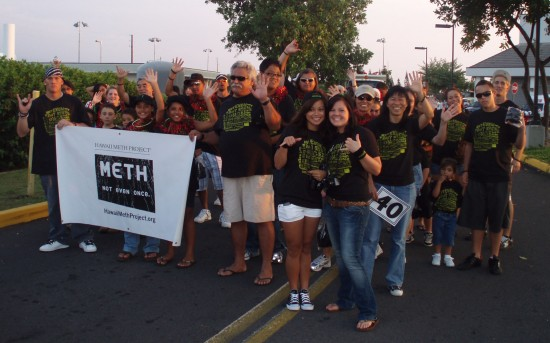 The Meth Project also participated in the annual Christmas Parade along Alii Drive. (Hawaii 24/7 photo courtesy of Margaret Masunaga)