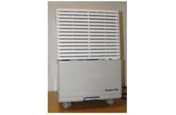 """The dehumidifiers are beige, have four wheels, and measure 21 inches high, 13 ½ inches wide and 17 ½ inches long. """"Hampton Bay"""" is printed on the front panel. Model HB-50 is being recalled. An internal component can fail causing the dehumidifier to overheat, posing fire and burn hazards to consumers."""