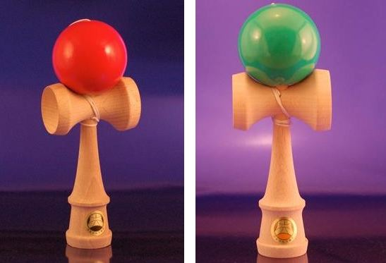 The surface paint coating on the ball contains excessive levels of lead, violating the federal lead paint standard. This recall involves Oozora and Shin-Fuji Kendama Japanese wooden skill toys. The toys have a ball connected by a string to a handle with three cups and spike on top. A Japanese Kendama Association sticker is affixed to the toy.